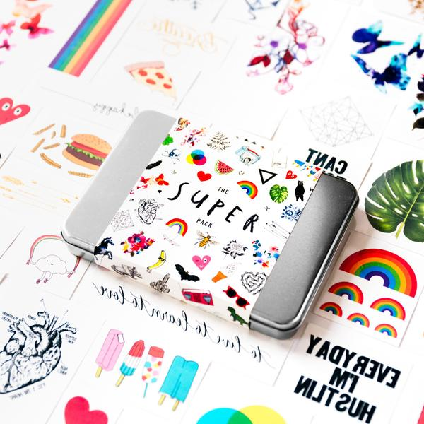 Tattly 2017 superpack of all their best tattoos: Now on sale and best gift ever!