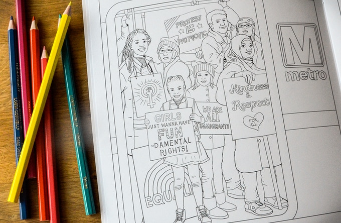 We March Coloring Book Kickstarter Project