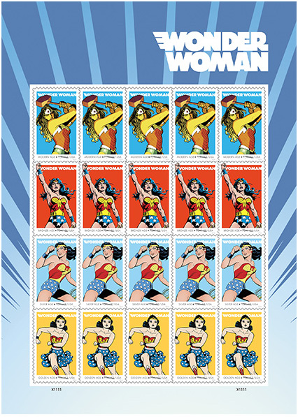 Wonder Woman stamps: A fun care package idea to get kids to write more from summer camp | cool mom picks