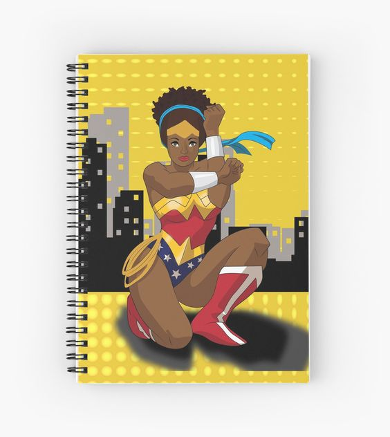 Black Wonder Woman (Nubia) Spiral Notebook  | Cool Mom Picks Back to School Shopping Guide 2017