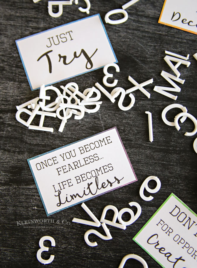 Back to school printables: Free Encouraging Lunch Note Printables | Kleinworth & Co