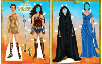 Get out the scissors! Check out these 7 sets of cool, modern, free printable paper dolls, from Wonder Woman to Hamilton