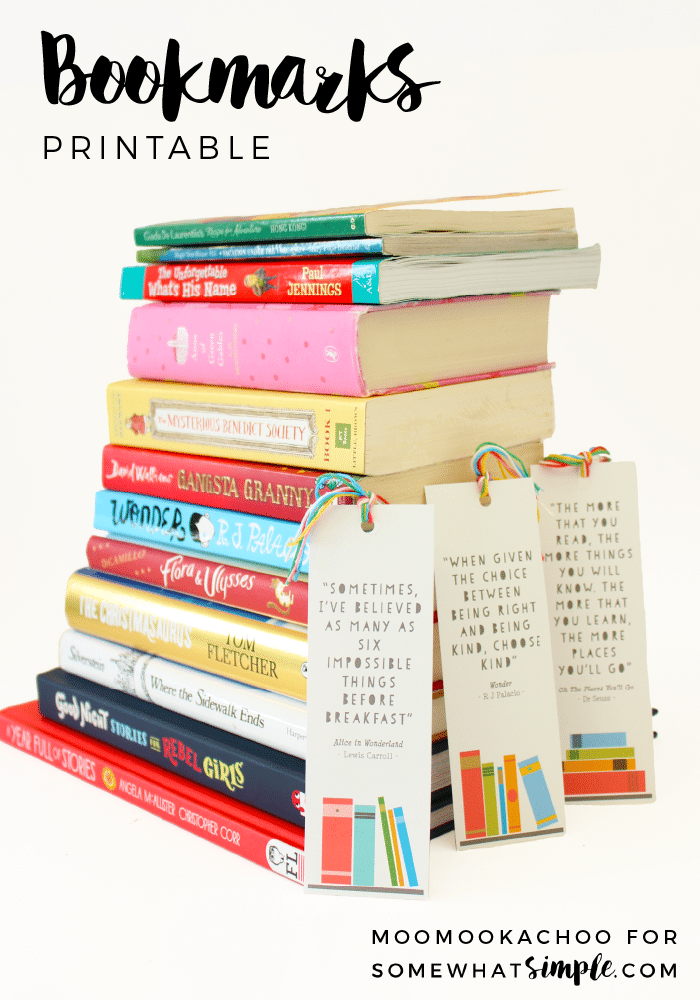 Back to school printables: Free Printable Bookmarks at Somewhat Simple