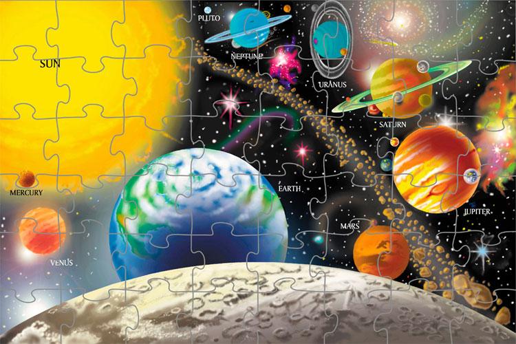 Birthday gift ideas for preschoolers under $15: Melissa & Doug Solar System Floor Puzzle by Melissa & Doug