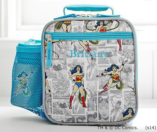 Classic Wonder Woman Comics Lunch Bag | Cool Wonder Woman Gear | Back to School Shopping Guide 2017