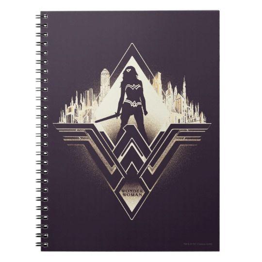 Wonder Woman Spiral Notebook | Cool Wonder Woman Gear | Back to School Shopping Guide 2017