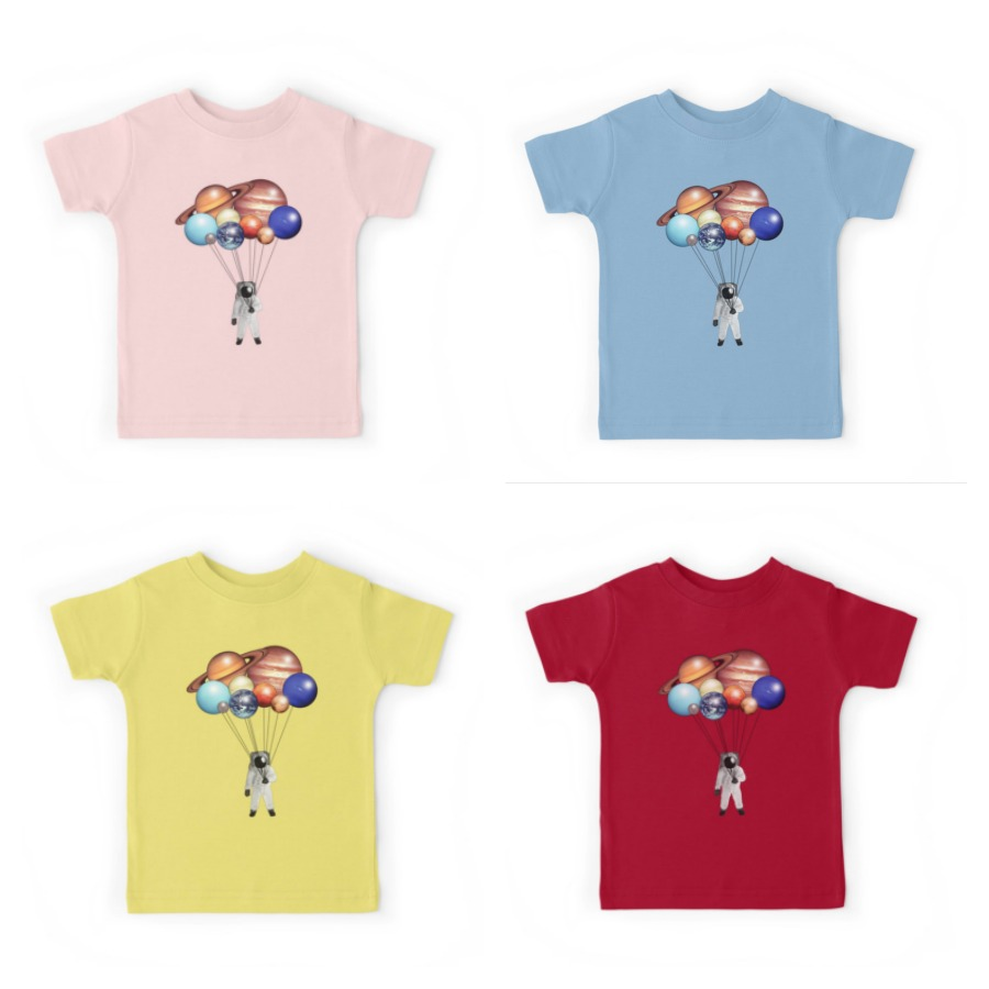 Astronaut planet-balloon tees for kids | cool space themed back to school gear | coolmompicks.com
