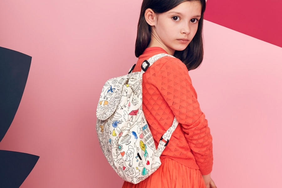 Color-your-own backpacks and bags that let your kids be the designer