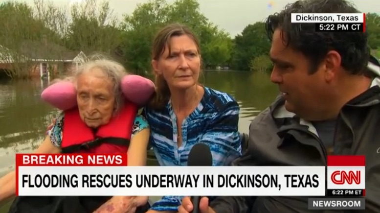 Journalists as heroes in Houston flooding: Ed Lavandera of CNN's dramatic rescue of an elderly family