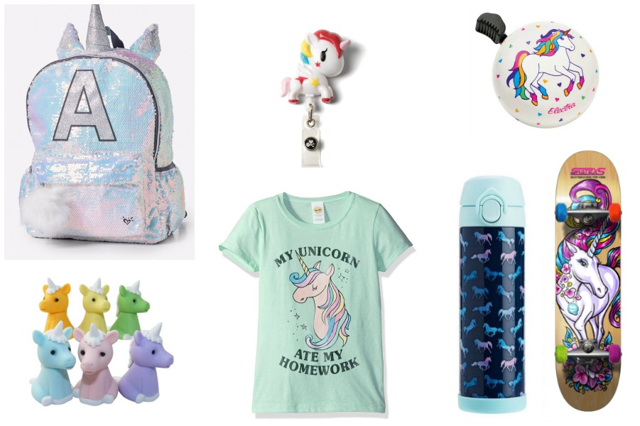 cool unicorn school supplies: backpacks, tees, bike accessories and more | cool mom picks back to school 2017
