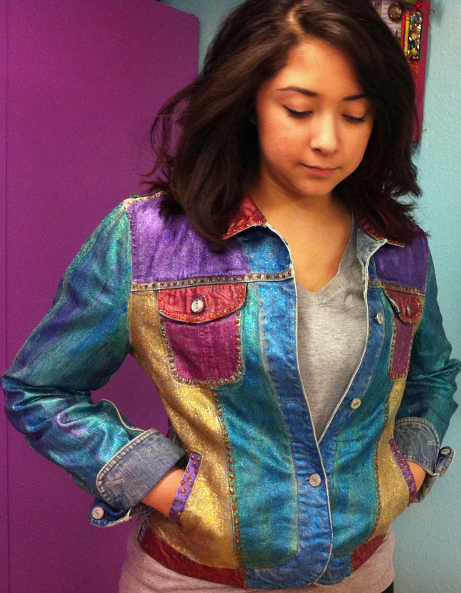 DIY customized denim jackets: Glitter Jacket by Maya in the Moment
