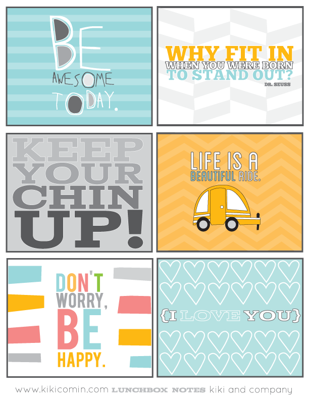 Free printable motivational lunch notes for kids, especially tweens and older kids | kiki & co for whipperberry