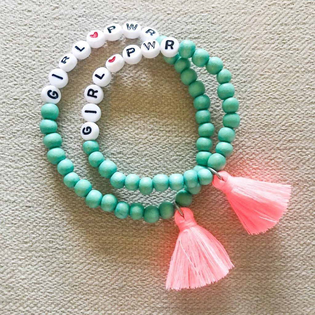 Girl power mommy-and-me bracelet set can help empower girls having anxiety about going back to school | sugar and spunk | coolmompicks.com