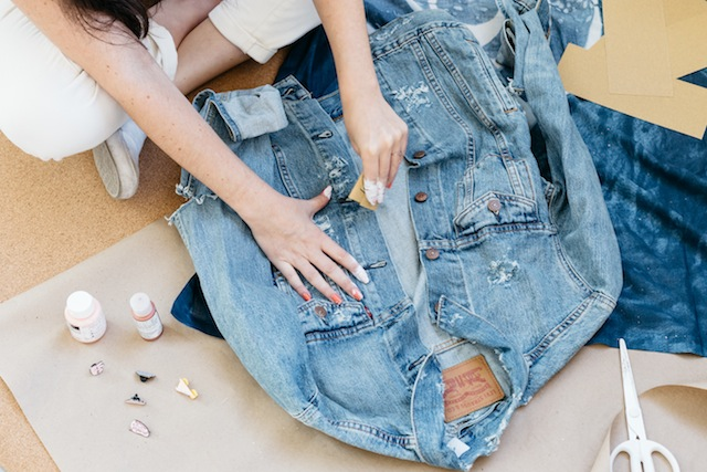 How to distress a denim jacket without destroying it: From the Urban Outfitters blog