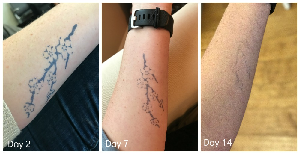 How Inkbox semi-permanent tattoos hold up over two weeks.