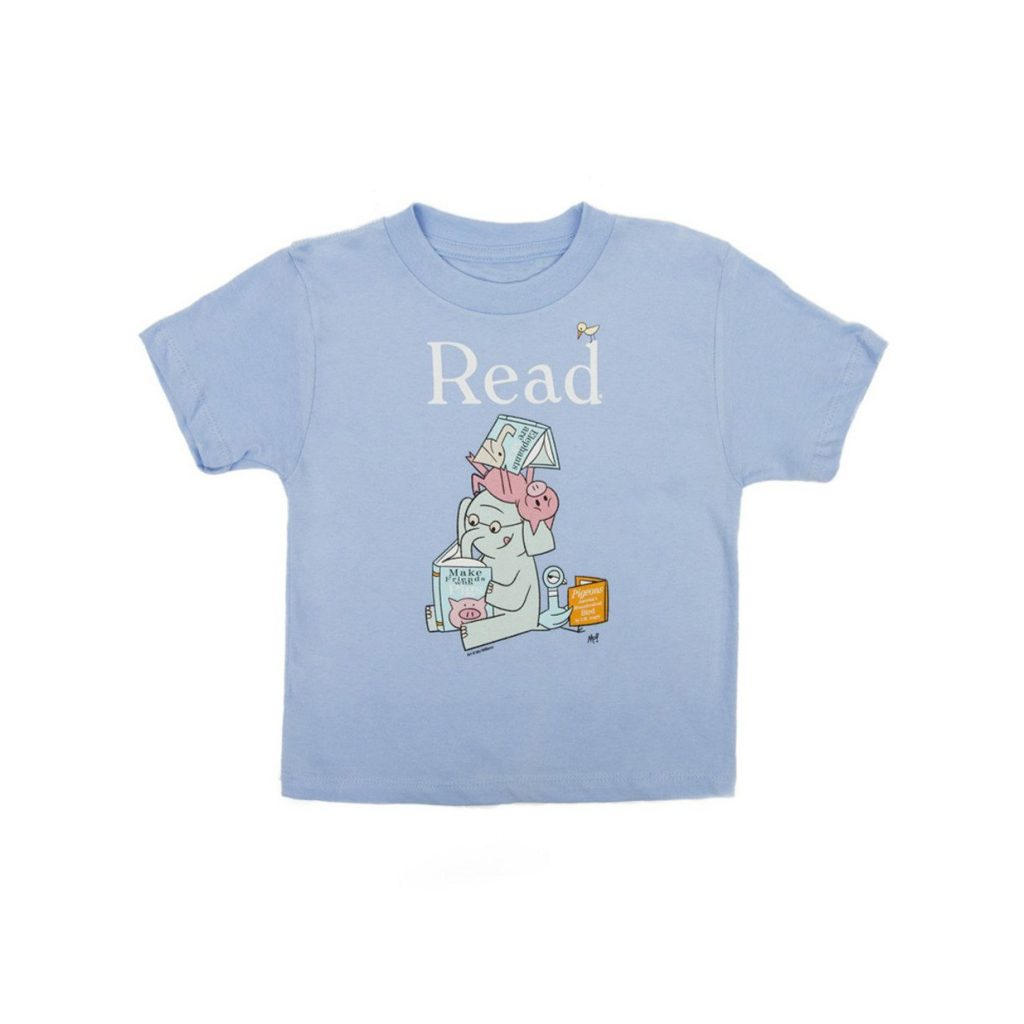 Mo Willems READ tee from the NY Public Library is a great way to promote a love of books in young kids!