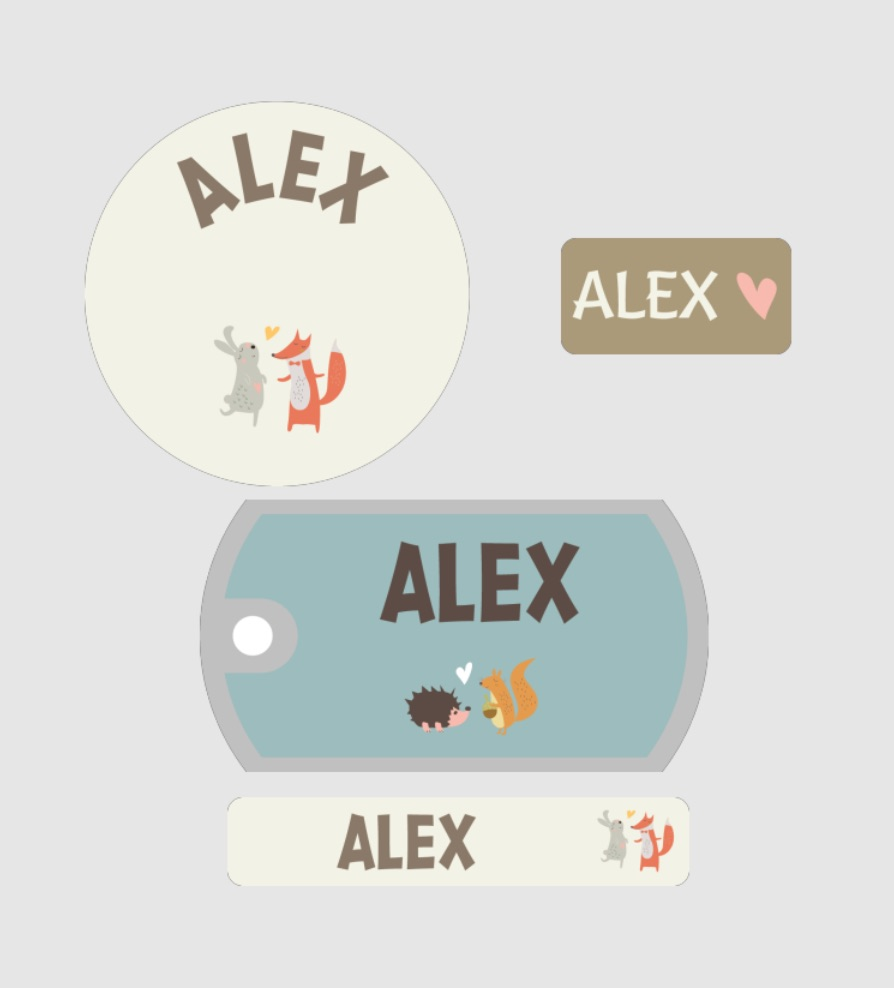 Personalized woodland creature labels and bag tags for school by Mabels Labels Cutest Animal School Supplies | back to school shopping 2017