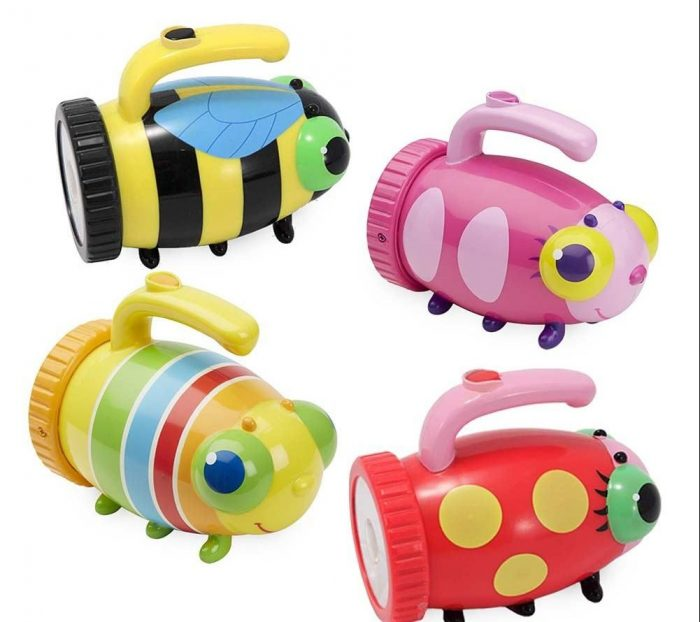 Birthday gift ideas for preschoolers under $15: Bug-shaped flashlight from Hearthsong Toys