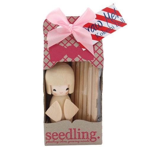 Birthday gift ideas for preschoolers under $15: Seedling Color Your Own Kokeshi Doll Kit