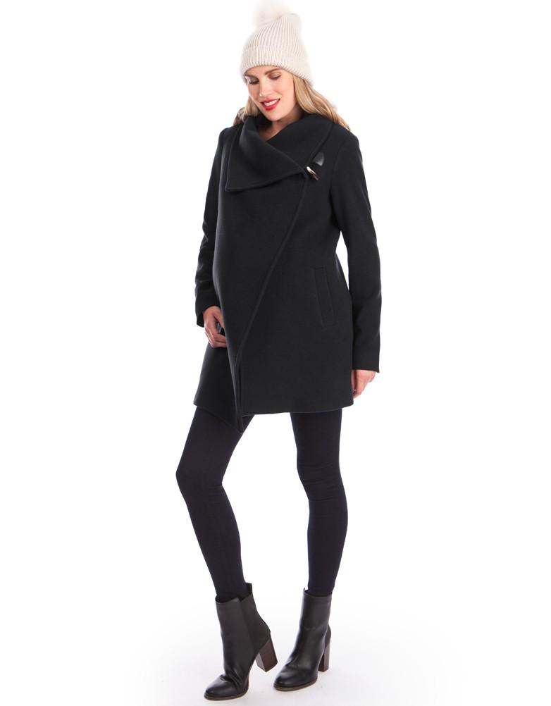 Maternity staples for fall: Seraphine Winter Coat | Seraphine