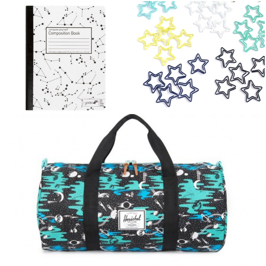 Cool space-themed school supplies | coolmompicks.com back to school 2017