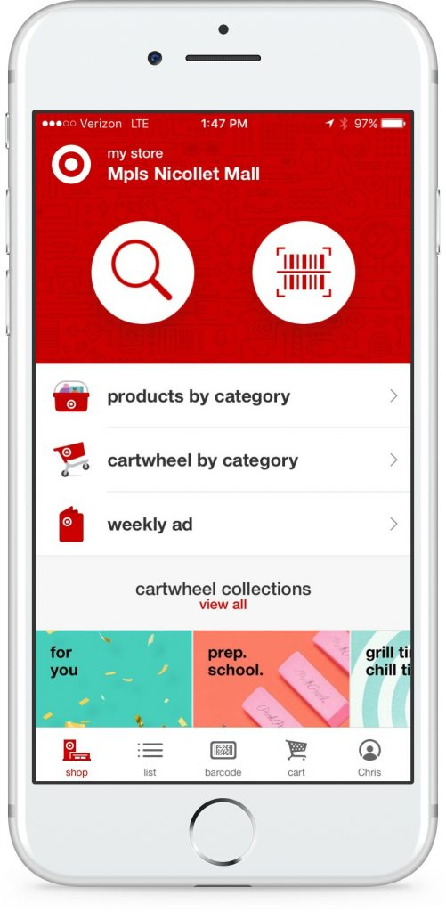 Target app now incorporates Cartwheel savings, all in one place | sponsor