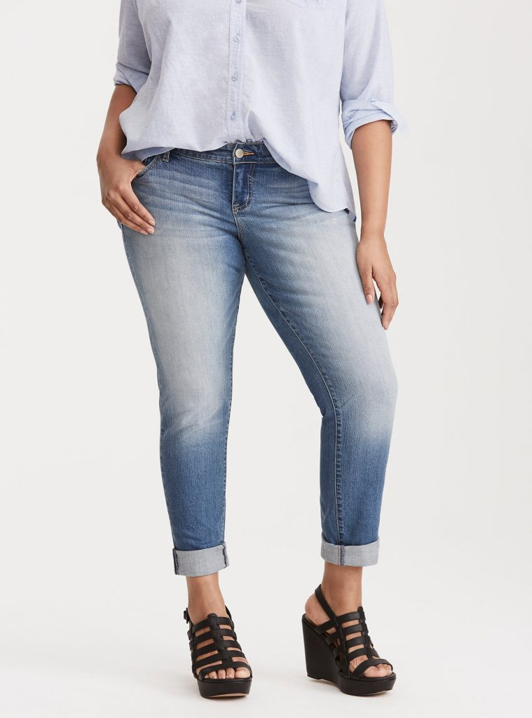 Best jeans for tall girls: Boyfriend Jeans by Torrid