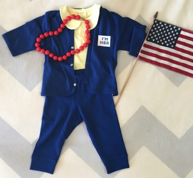 Hottest pop culture baby Halloween costumes: Hillary Clinton DIY from Rookie Moms