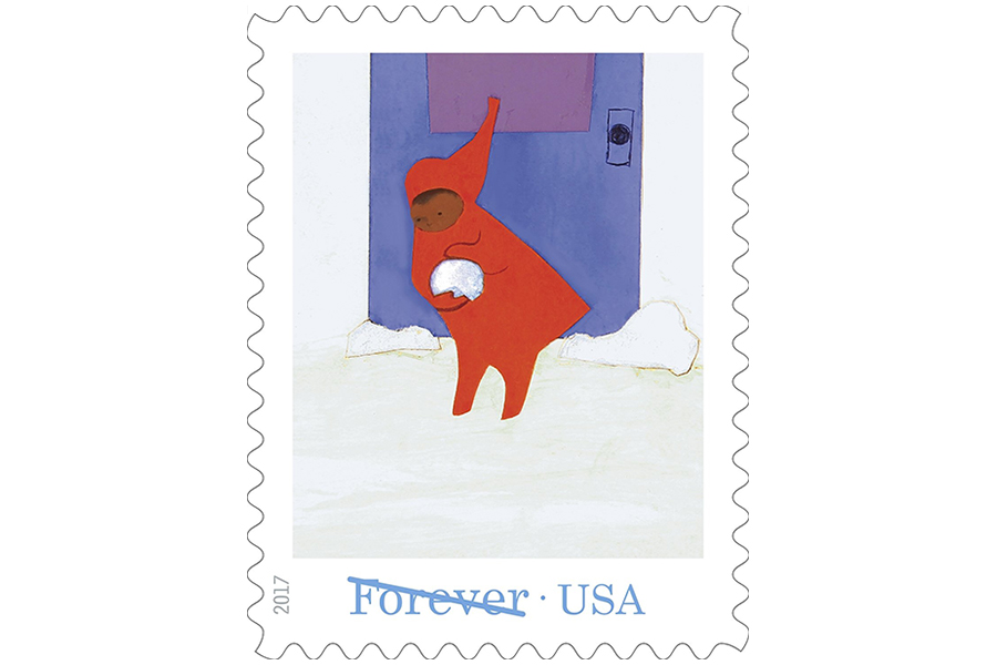 Web coolness: Snowy Day stamps for the holidays, remarkable custom dolls for special kids, help for Puerto Rico.