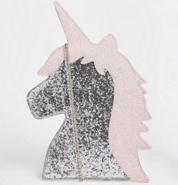 Glitter unicorn purse from ASOS