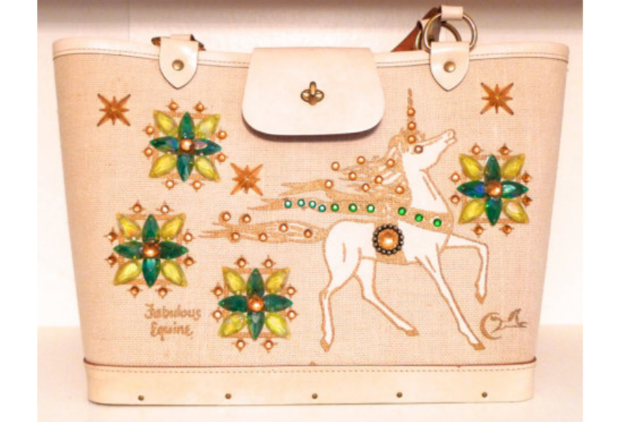 Vintage 70s Enid Collins unicorn purse