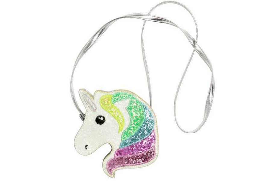Fabulous glitter rainbow unicorn purse from H&M that's affordable too!