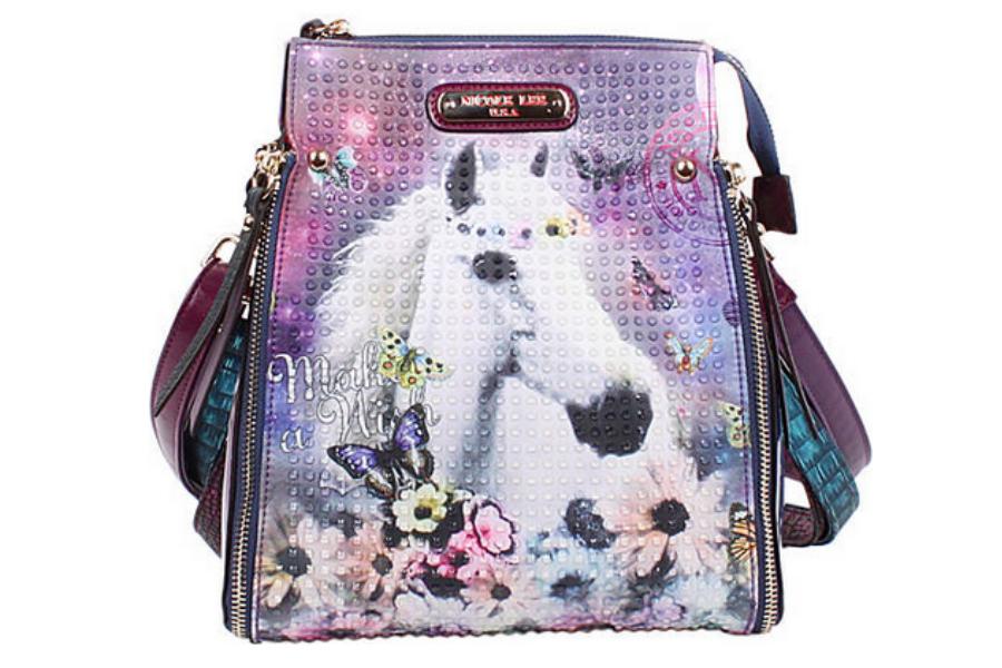 Outrageous Nicole Lee unicorn purse. Wow, those details are insane!