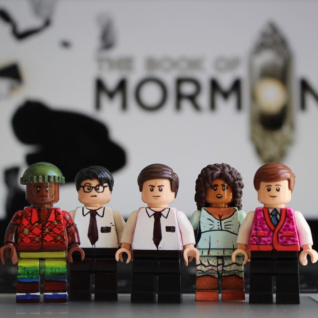 Book of Mormon and other Broadway hits recreated as LEGO by Broadway Bricks