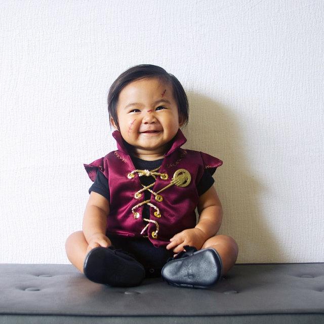 Kids' Game of Thrones costume ideas: Baby Tyrion Lannister via Leniebelle Gallardo, handmade vest by Little Ivie Rose on Etsy