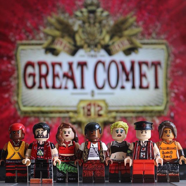 The Great Comet of 1812 and other Broadway hits recreated as LEGO by Broadway Bricks