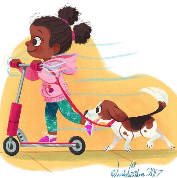 #DrawingWhileBlack: Black children's book illustrator Jessica M. Gibson