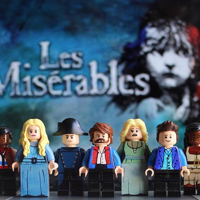 Les Miserables and other Broadway hits recreated as LEGO by Broadway Bricks