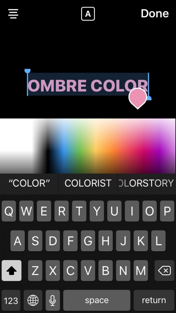 Step-by-step Instagram design tips: Making ombre type in your text overlay on Instagram Stories | coolmomtech.com