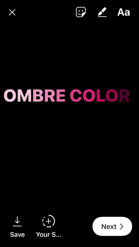 Instagram stories design tutorial: Making ombre text overlays | cool mom tech