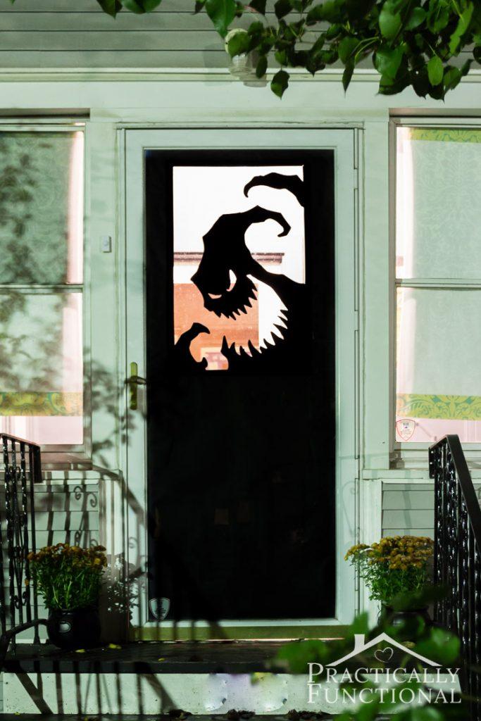 DIY Halloween door decorating ideas  | Oogie Boogie Man by Practically Functional