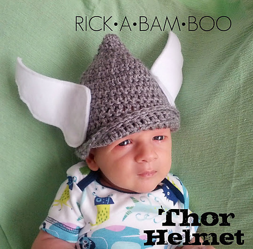 Hottest pop culture baby Halloween costumes: Thor baby cap free crochet pattern