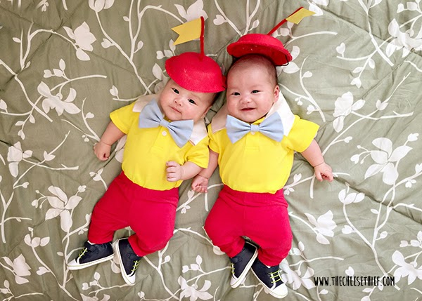 No-sew Halloween costumes: Twins Halloween Costume | The Cheese Thief