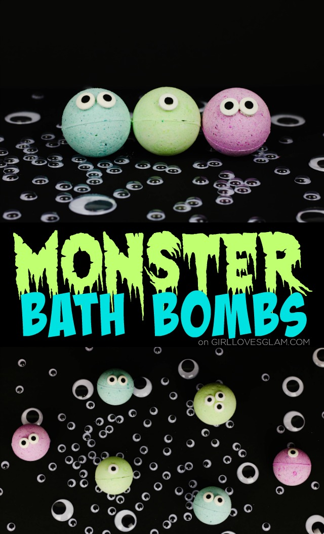Non-candy Halloween treats for kids: Monster Bath Bombs | Girl Loves Glam
