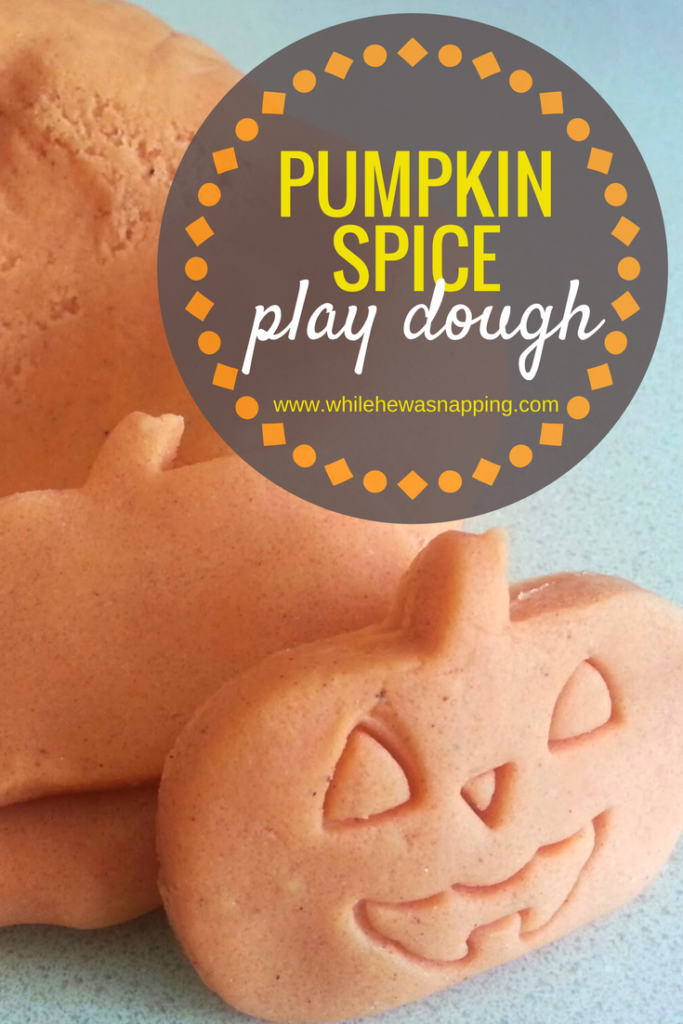 Non-candy Halloween treats: Pumpkin Spice Play Dough | While He was Napping