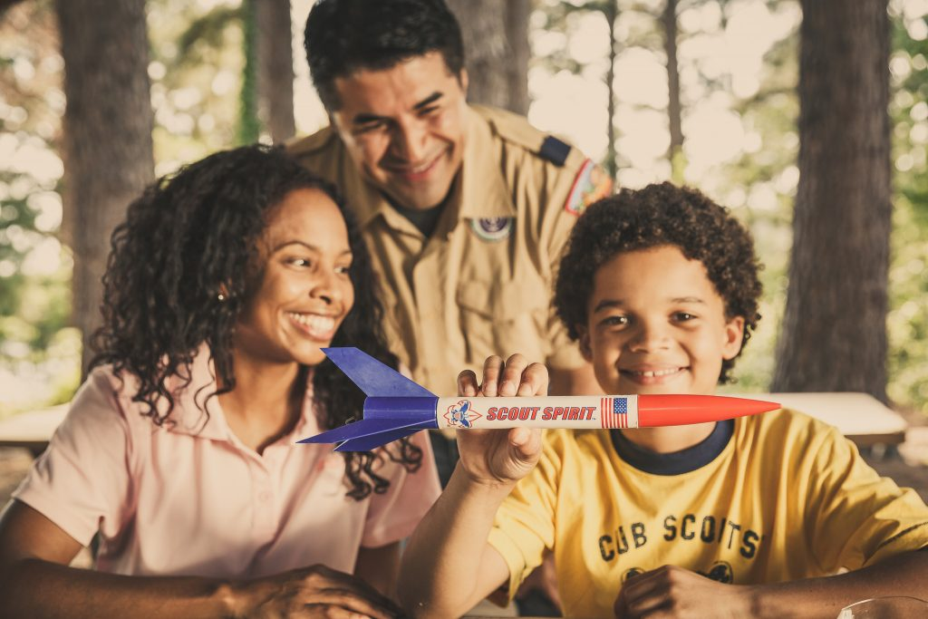The Cub Scouts and Boy Scouts encourage full family participation © Boy Scouts of America