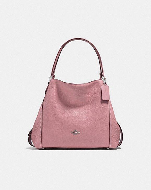 Coach Edie Shoulder Bag 31 in Tea Rose: Colorful handbags for fall