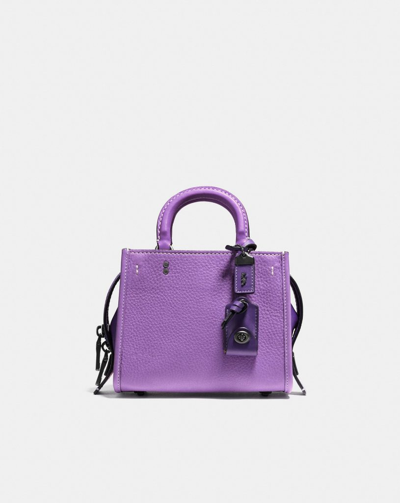 Colorful handbags for fall! Coach Rogue 17 Leather Bag in Iris