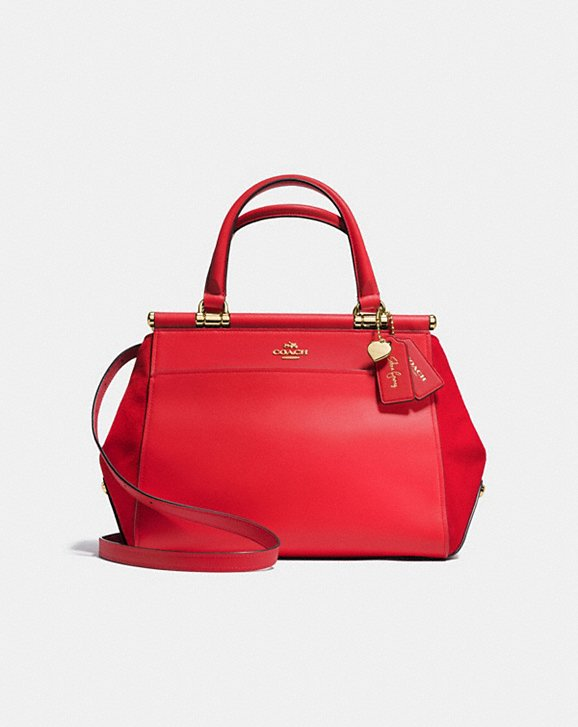 Coach + Selena Gomez pair up with this stunning Selena Red Grace Bag for fall