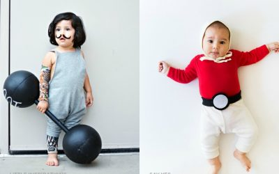 13 super easy, very fun, no-sew DIY Halloween costume ideas for babies and toddlers.